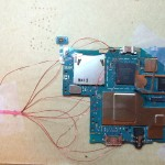 Attempt 2: Resistors removed. Vddf found and soldered to Vdd from SD reader.